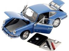 Коллекционная модель автомобиля СMC Porsche 901 1964 1/18 Sky Blue Limited Edition-фото 5