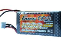 AE Gens Ace Li-Po battery 11.1V 1000 mAh 3S1P 25C Soft Case