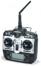 Комплект радиоаппаратуры JR DSX7 V3 2.4GHz w/RD721 Receiver DSMJ in Case (Mode 2)-фото 1