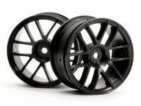 HPI Racing Комплект дисков 1:10, для шин Split 6, черный, шир.26мм, шоссе, 2шт