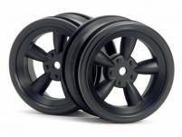 HPI Racing Комплект дисков 1:10, для шин VINTAGE 5 SPOKE,черный, шир.26мм, вылет 0мм, шоссе, 2шт