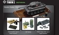 Коллекционная модель танка VSTank German Tiger I 1:24 EP