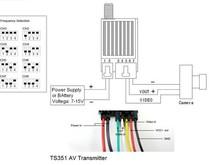 Трансмиттер для систем FPV Boscam 5,8 гГц 200мВт 8 каналов 2000 м-фото 1
