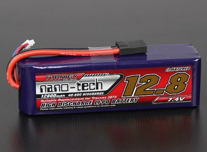 LiPo Аккумулятор Turnigy nano-tech 12800 mAh 2s 40-80C