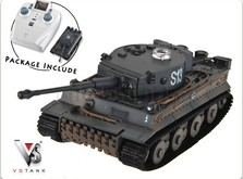 Танковый бой на радиоуправлении Т-34 и German Tiger I Grey 1:72-фото 2