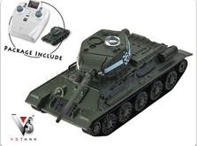 Танковый бой на радиоуправлении Т-34 и German Tiger I Grey 1:72-фото 3