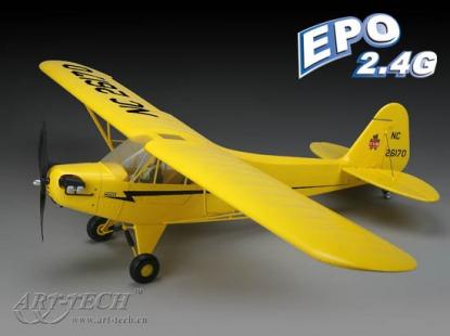 Радиоуправляемая модель самолета Paper J3 2.4GHz