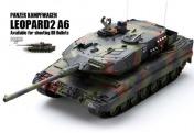 Радиоуправляемый танк  German Leopard 2 A6 NATO 1:24 Airsoft /JR (Camouflage RTR Version)-фото 4
