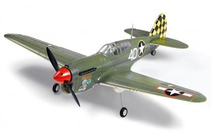 Радиоуправляемая модель самолета Curtiss P-40
