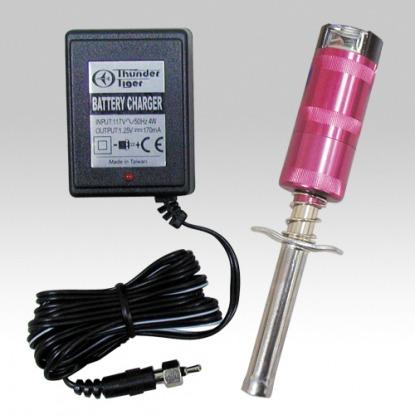 Накальная цанга Thunder Tiger Glow plug  1.2 V 2600 mah  с индикатором и зарядным устройством