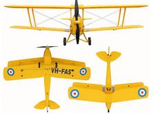 Самолет Dynam De Havilland Tiger Moth RTF 1270 мм-фото 1
