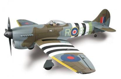Самолёт Dynam Hawker Tempest RTF 1250 мм