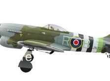 Самолёт Dynam Hawker Tempest RTF 1250 мм-фото 3