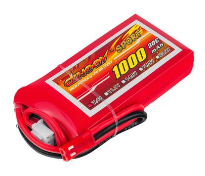 Аккумулятор Dinogy Li-Pol 1000mAh 7.4V 2S 30C