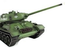 Радиоуправляемый танк 2.4GHz 1:16 Heng Long T-34 с пневмопушкой и дымом-фото 1