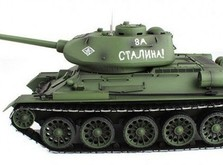 Радиоуправляемый танк 2.4GHz 1:16 Heng Long T-34 с пневмопушкой и дымом-фото 4