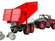 Трактор на радиоуправлении 1:28 Farm Tractor с прицепом-фото 1