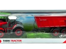 Трактор на радиоуправлении 1:28 Farm Tractor с прицепом-фото 8