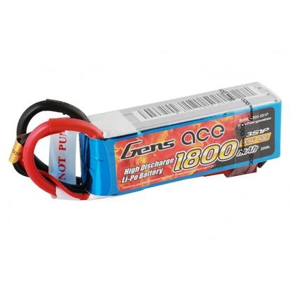 Аккумулятор Gens Ace Li-PO 11,1 В 1800 мАч 40С