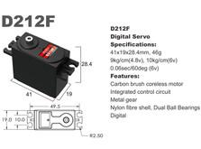 Сервопривод стандарт 46г BATAN D212F 10.0кг/0.06сек металл цифровой-фото 1