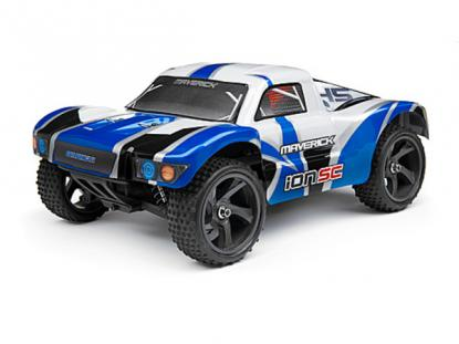 Автомобиль HPI Maverick iON SC Short Course Truck 4WD 1:18 EP (Blue RTR Version)