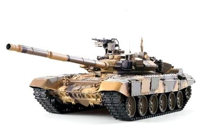 Танк на радиоуправлении 1:16 Heng Long Т-90 с пневмопушкой, металлическими гусеницами и дым-машиной
