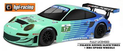 Автомобиль HPI Sprint 2 Sport Falken Porsche 911 GT3 RSR 4WD 1:10 EP (RTR Version)