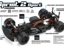 Автомобиль HPI Sprint 2 Sport Falken Porsche 911 GT3 RSR 4WD 1:10 EP (RTR Version)-фото 2