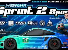 Автомобиль HPI Sprint 2 Sport Falken Porsche 911 GT3 RSR 4WD 1:10 EP (RTR Version)-фото 1