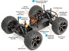 Автомобиль HPI Bullet MT Flux 4WD 1:10 EP 2.4GHz (RTR Version)-фото 6