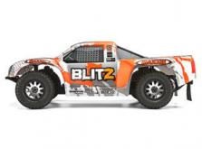 Автомобиль HPI Blitz Scorpion 2WD 1:10 EP 2.4GHz (Silver/Orange RTR Version)-фото 1