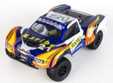 Автомобиль HSP Caribe Short Course Truck 4WD 1:18 EP (Blue RTR Version)-фото 2