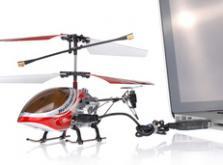 Вертолет Микроша Falcon-X 3CH IR с гироскопом (Metal RTF Version)-фото 7