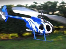 Вертолет Nine Eagles Bravo SX 2.4 GHz (Light Blue RTF Version)-фото 3