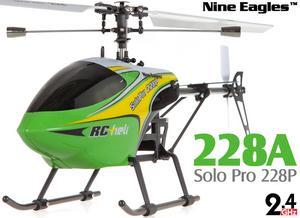 Вертолет Nine Eagles Solo PRO 228P 2.4 GHz (Green RTF Version)