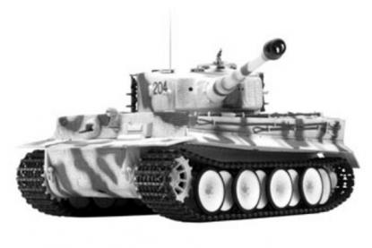 Танк VSTANK PRO German Tiger I MP 1:24 Airsoft (Winter Camouflage RTR Version)