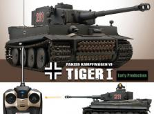 Танк VSTANK PRO German Tiger I EP 1:24 Airsoft (Grey RTR Version)-фото 3