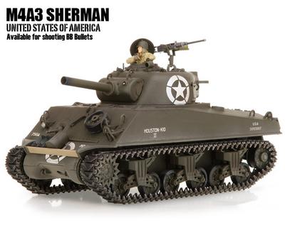 Танк VSTANK PRO US M4A3 Sherman 1:24 HT Airsoft (Khaki RTR Version)