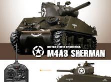Танк VSTANK PRO US M4A3 Sherman 1:24 HT Airsoft (Khaki RTR Version)-фото 4
