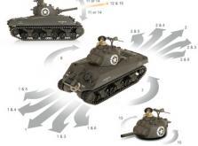 Танк VSTANK PRO US M4A3 Sherman 1:24 HT Airsoft (Khaki RTR Version)-фото 7