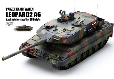 Танк VSTANK PRO German Leopard 2 A6 NATO 1:24 Airsoft (Camouflage RTR Version)