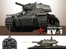 Танк VSTANK PRO Soviet Red Army KV-1B 1:24 Airsoft (Khaki RTR version)-фото 2