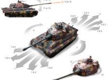 Танк VSTANK PRO German King Tiger 1:24 Airsoft (Camouflage RTR Version)-фото 3