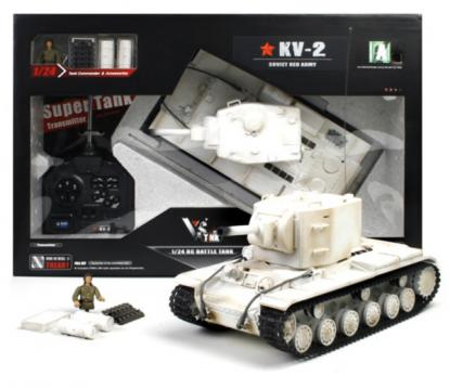 Танк VSTANK PRO Soviet Red Army KV-2 1:24 Airsoft (Winter RTR version)