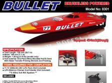 Катер Joysway Bullet Brushless EP 0,73 м 2.4GHz (RTR Version)-фото 4