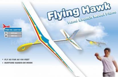 Метательная модель самолета Flying Hawk