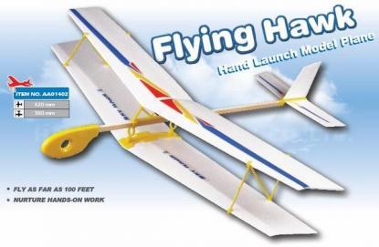 Метательная модель биплана Flying Hawk Biplane