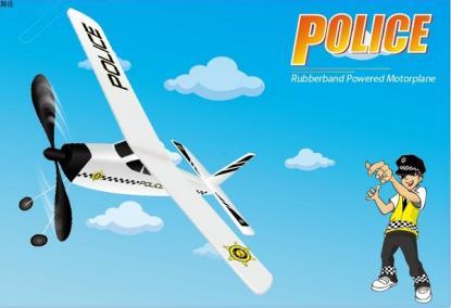 Самолет Knight с резиномотором