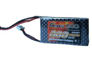 AE Gens Ace Li-Po battery 7.4V 800 mAh 2S1P 20C Soft Case