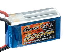 AE Gens Ace Li-Po battery 11.1V 800 mAh 3S1P 20C Soft Case